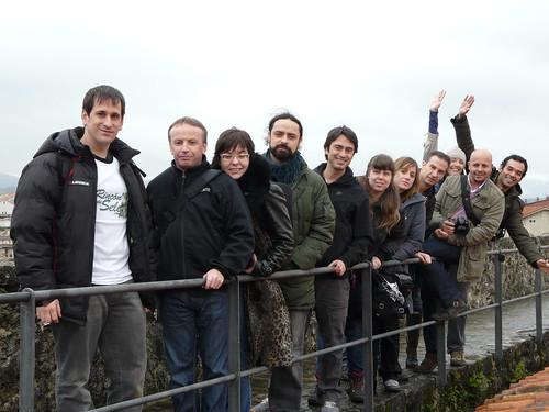 Con otros bloggers de viajes en Cantabria