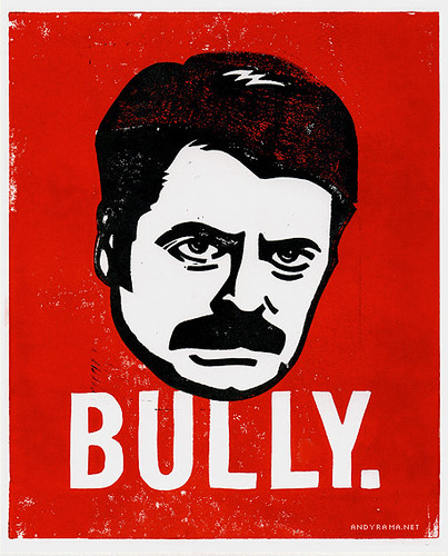 Ron Swanson from Parks & Recreation Lino Block Print
