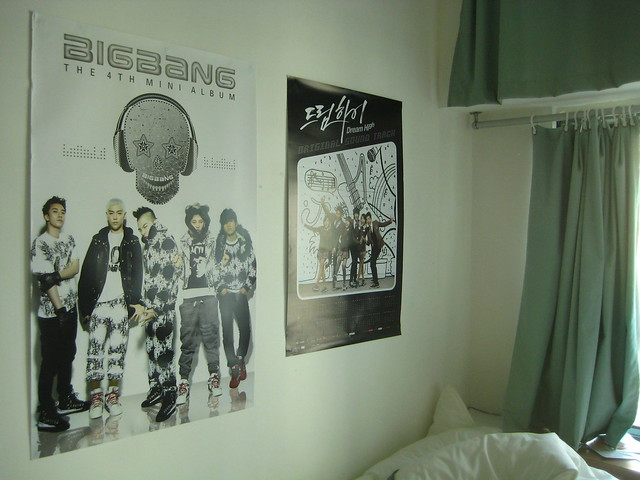 KPop Posters on my Dorm room Wall