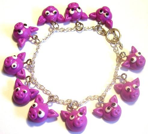 pig charm bracelet flickr photo