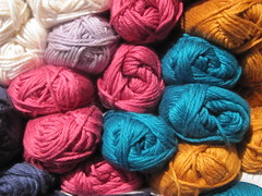 Colorful Spools of Yarn