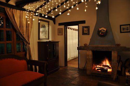 Warm property interior