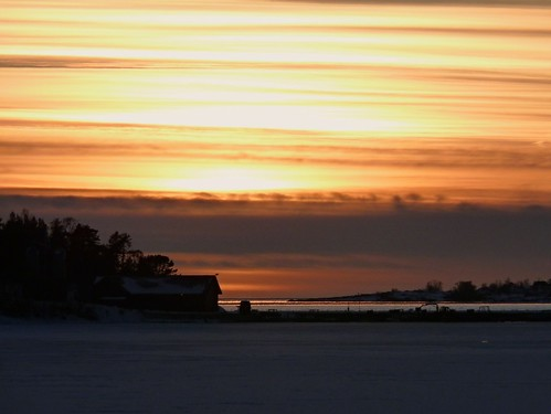 winter light sunset ice nature evening silhouettes åland