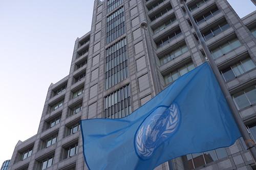 国連半旗 UN Flag at Half Staff