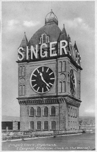 Singer Factory Clock