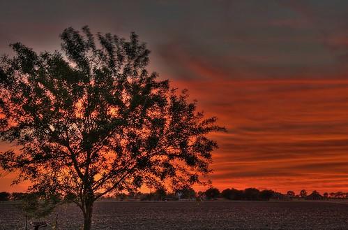 sunset sun texas hdr