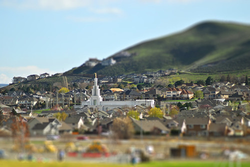 Columbia River Temple - Tilt/Shift