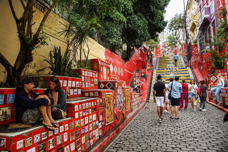Escadaria Selarón brazil brasilia rio de janeiro art park