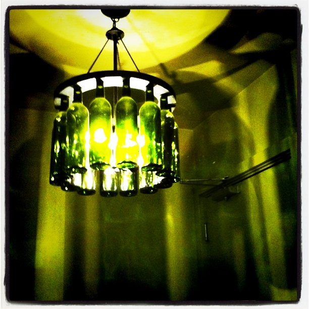 wine bottle light fixture flickr photo