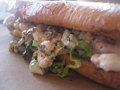 Shrimp Salad Po Boy