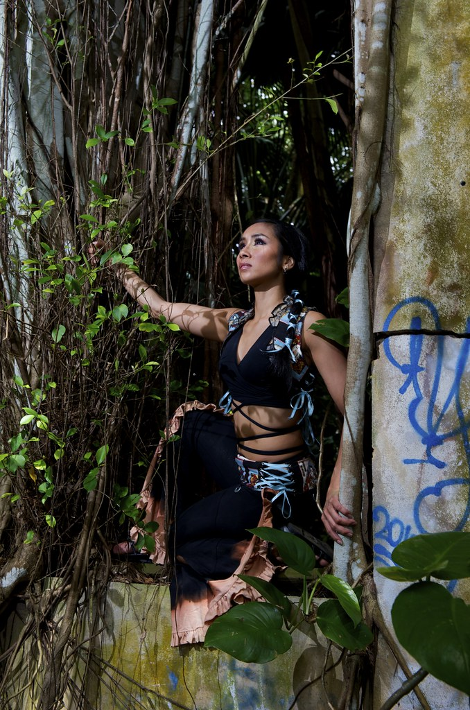 Anasma blue jungle church window photo by Joe marquez pants by Firefly style vest by Tempest -013