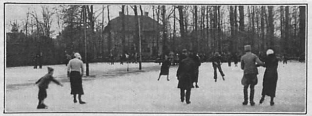 De ijsbaan op Klarenbeek in 1933