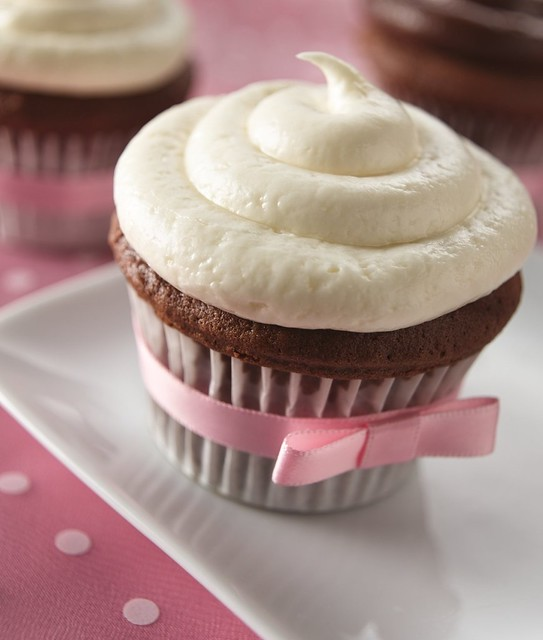 Chocolate Cupcakes with White Truffle Frosting Recipe | Flickr - Photo ...