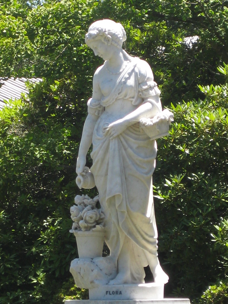 Victorian Marble Statue Of Flora