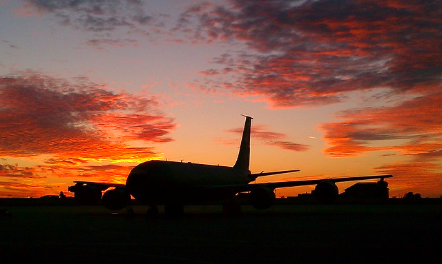 Sunset on the flight line.