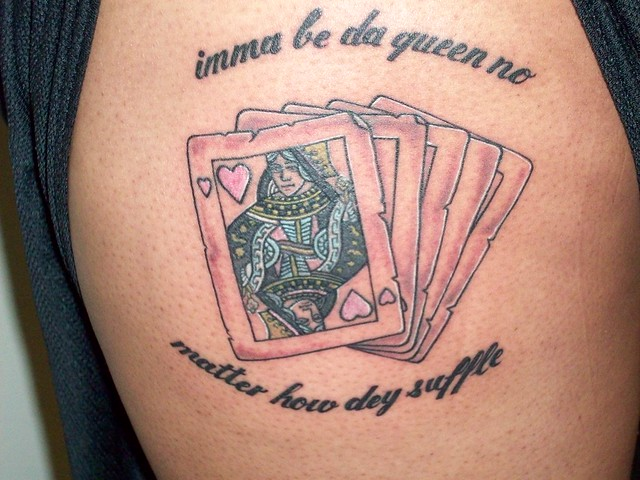 Cards Tattoo (Queen of Hearts)