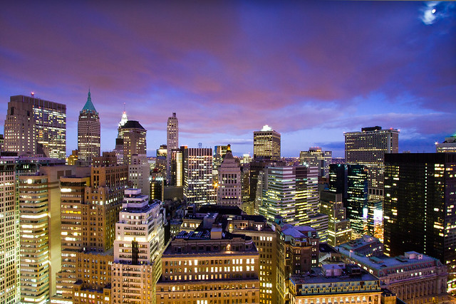 The Financial District of Manhattan: Claire de Lune