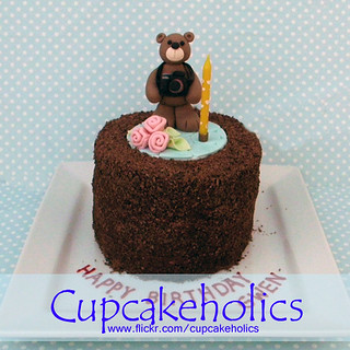 Teddy Bear Photographer Cake