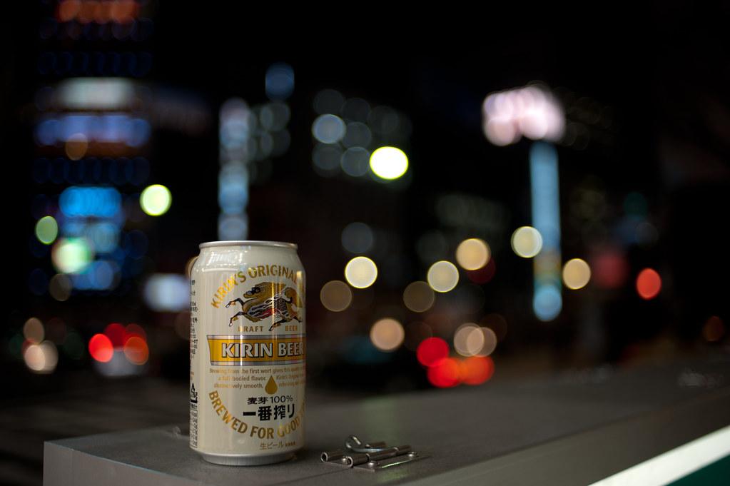 一番搾りの空き缶とボケボール 2011/03/08 DSC_2692