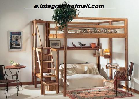 Cama alta con repisas escalera con baranda sencilla y con sofa baul flickr photo sharing - Escaleras para camas altas ...