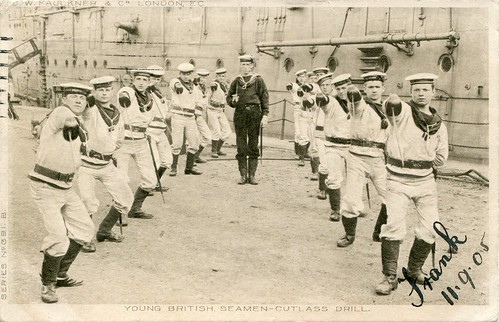 391. B. Young British Seaman - Cutlass Drill (c.1905)