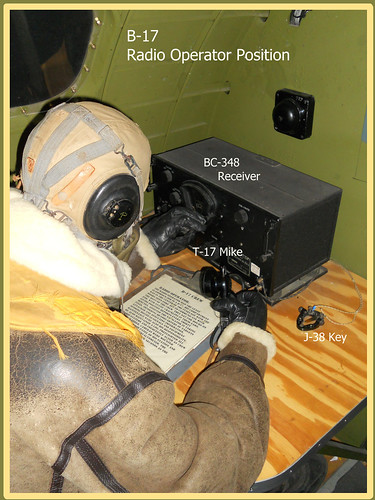 flying b17 fortress radiooperator j38key t17microphone bc348receiver