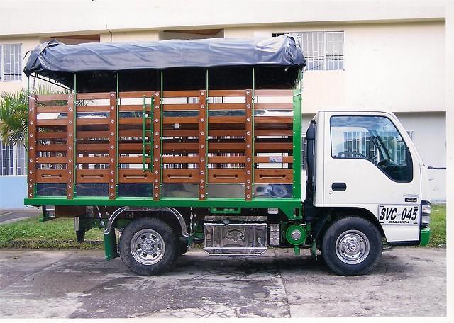 Carroceria nhr marco negro puertas de estacas madera abar - Estacas de madera para cierres ...