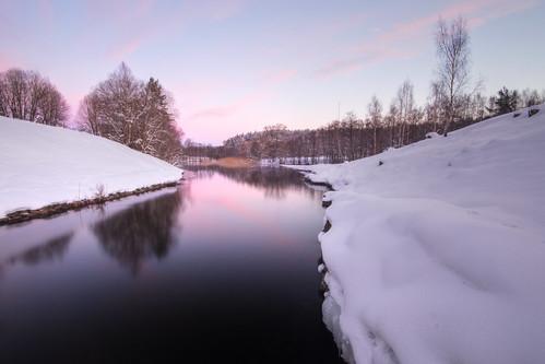 trees winter snow river dawn sweden sverige hdr stångån östergötland sigma1020mmf456exdchsm canoneos7d hovetorp