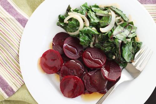 beets with grapefruit glaze