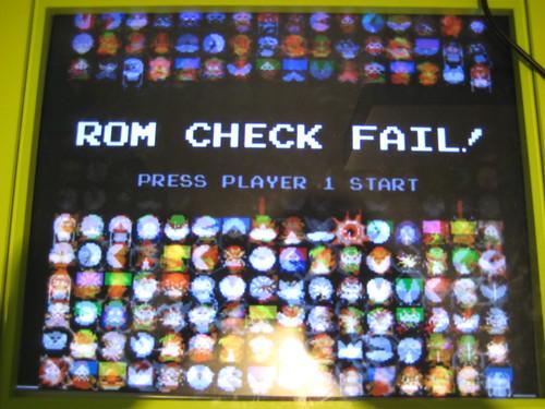 ROM CHECK FAIL!