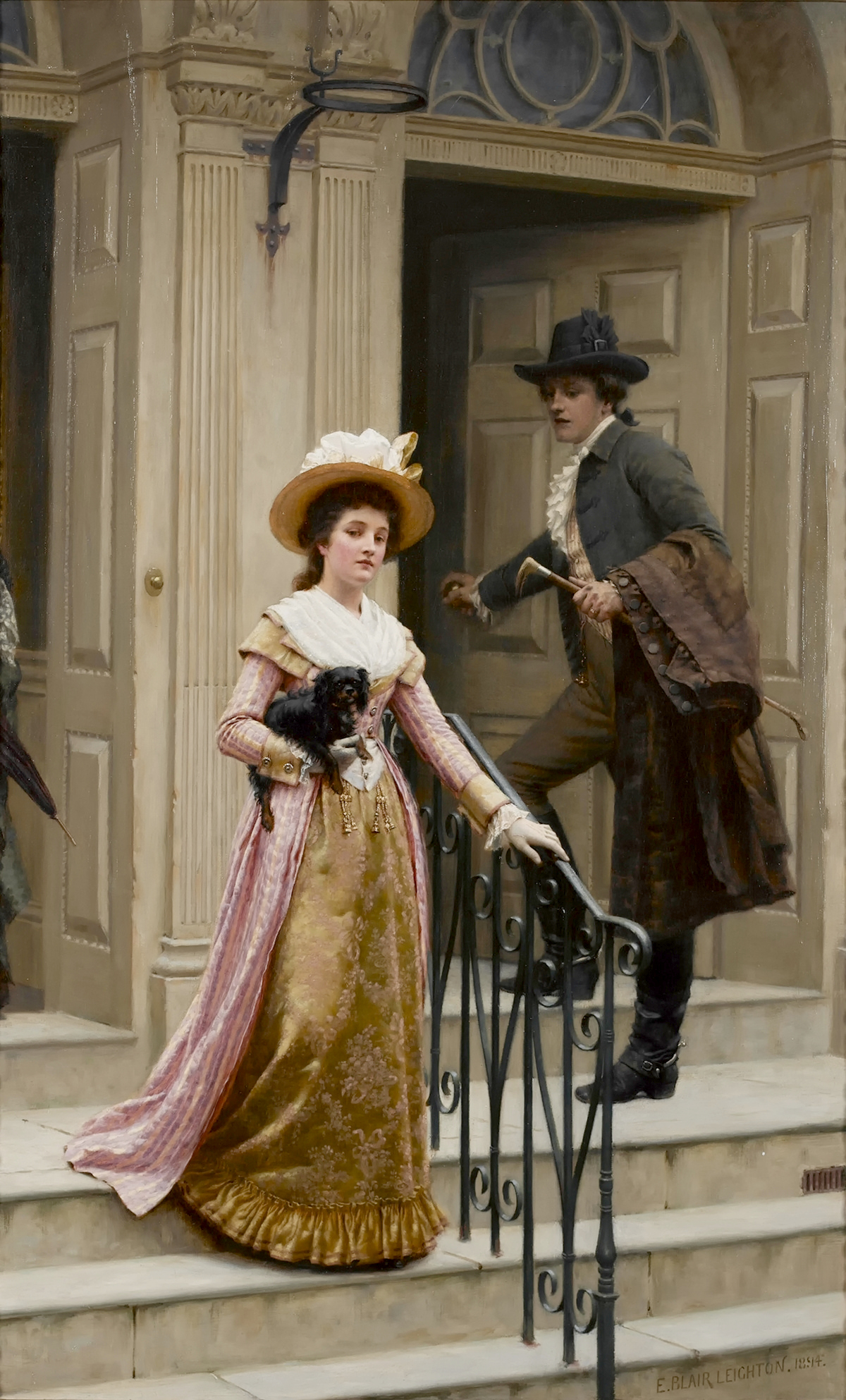 My Next-Door Neighbour by Edmund Blair Leighton