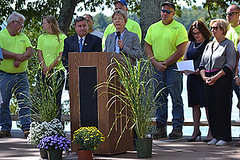 State Rep. Tami Zawistowski participated in the re-dedication ceremony for Babb's Beach in Suffield.