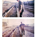 Slide film developed a temp or two off. Hanging out on the tracks. by Alyssa Tanchajja