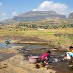 Washing near Nasik, Maharashtra, India
