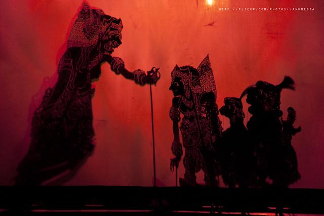 Wayang Kulit, the shadow puppet