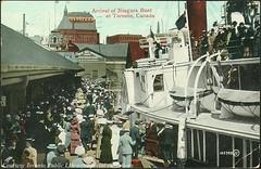 Arrival of Niagara Boat at Toronto, Ontario, Canada (1910)