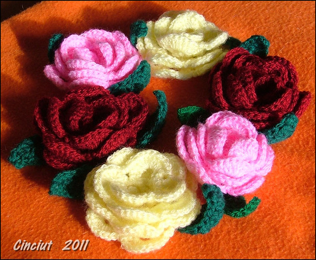 Crochet Stitches Rose : FREE CROCHET ROSE PATTERNS - Crochet and Knitting Patterns