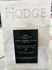 Photo of Hodge and Samuel Johnson black plaque