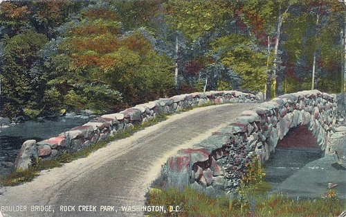 Postcard: Boulder Bridge, Rock Creek Park, Washington, DC