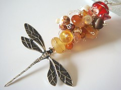 ♥ Fiery Dragonfly ♥ Sterling Necklace ♥