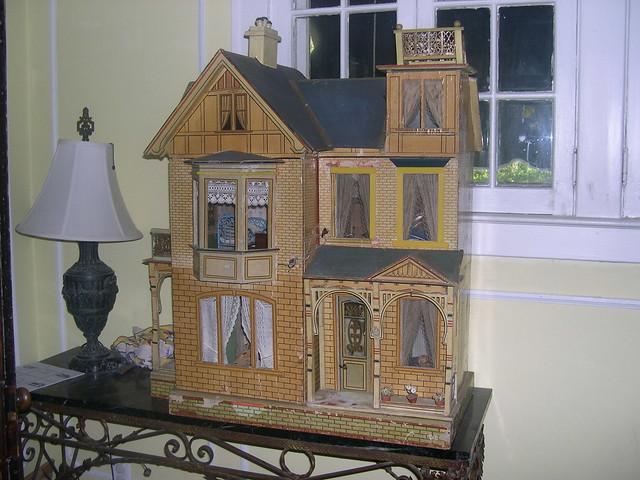 large blue roof moritz gottschalk antique dollhouse ...
