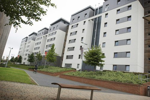 Blocks of student accommodation at Frenchay Campus.