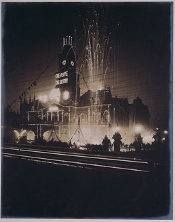 Town Hall at night, Inauguration of the Australian Commonwealth, Sydney, 1st January 1901, W. A. Gullick, Government Printer