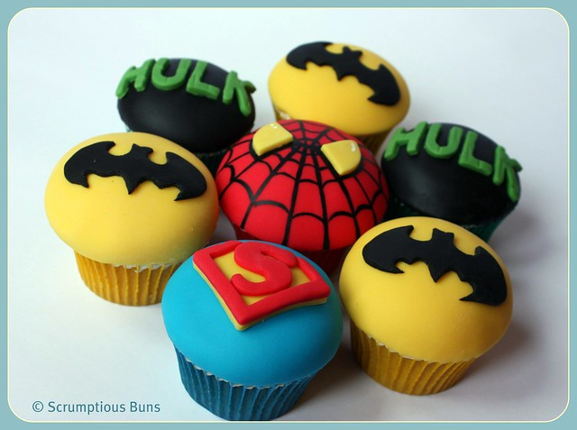 Hulk Cupcake Ideas http://www.flickr.com/photos/scrumptiousbuns/5523821934/