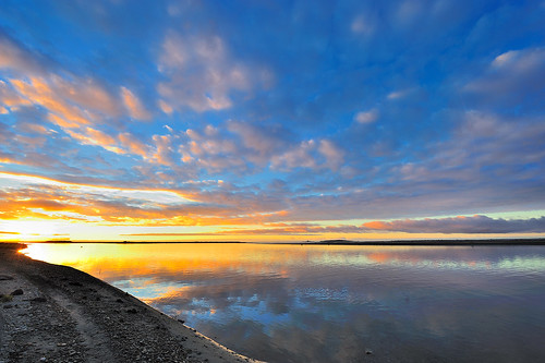 sunset newzealand color reflection river landscape atardecer agua nikon colorful paisaje reflejo westcoast d3 haast sandfly 1424mm