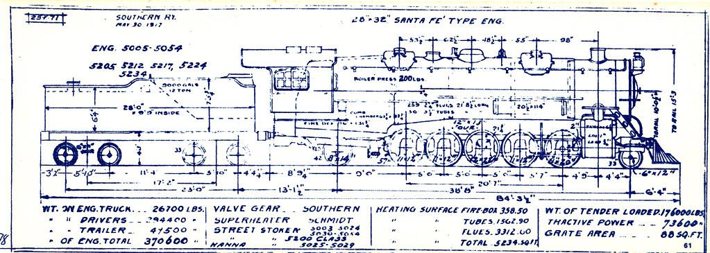 2-10-2 Santa Fe (1917) | Southern Railway Locomotive Diagram ... on crane schematics, machine schematics, electrical schematics, space schematics, computer schematics, forklift schematics, vehicle schematics, motorcycle schematics, clock schematics,