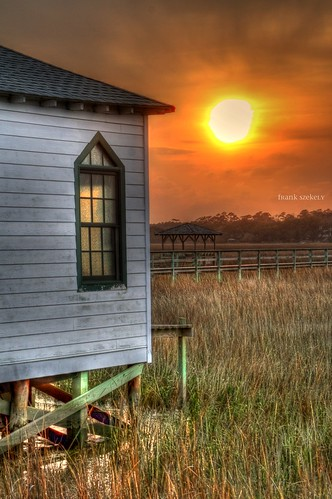 sunset church island south chapel carolina pawleys photomatix