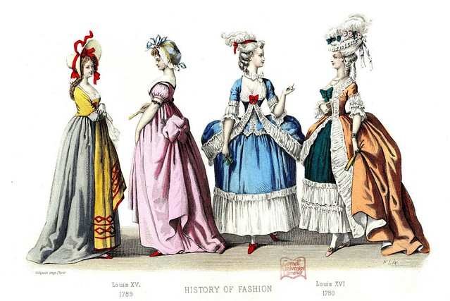French Fashion Plate - 1780-1789