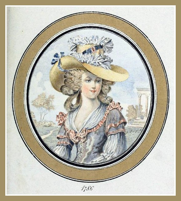 Hats by Madame Bertin 1786