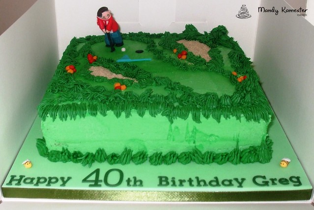 Golf Course Cake Design : Golf Course cake Flickr - Photo Sharing!